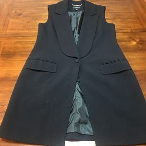 Faux Double Breasted Long Vest